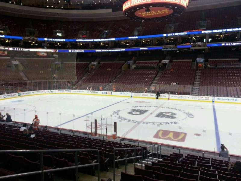 Seating view for Wells Fargo Center Section 102 Row 16 Seat 4