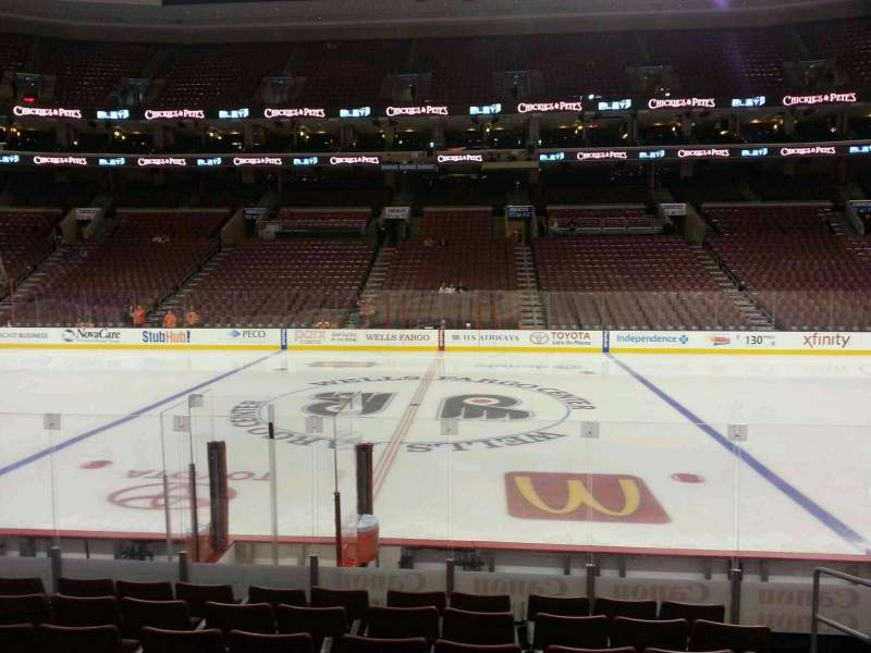 Seating view for Wells Fargo Center Section 101 Row 10 Seat 13