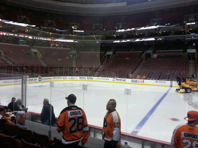 Seating view for Wells Fargo Center Section 124 Row 7 Seat 16