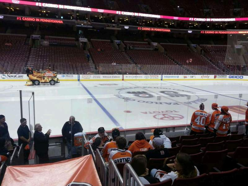 Seating view for Wells Fargo Center Section 124 Row 10 Seat 8