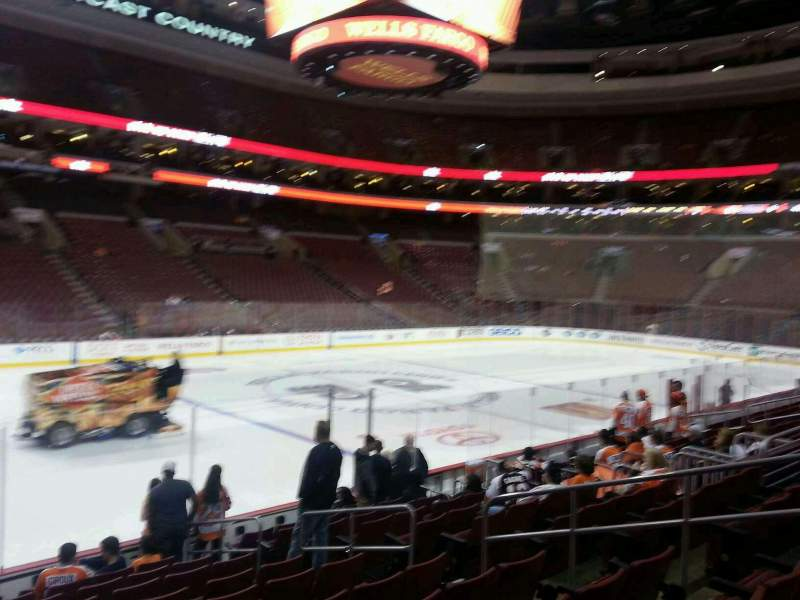 Seating view for Wells Fargo Center Section 123 Row 12 Seat 11