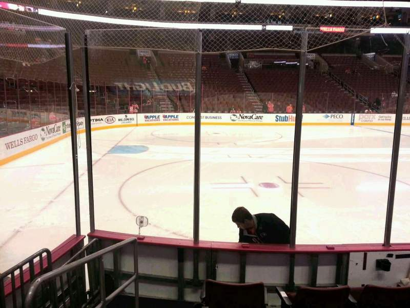 Seating view for Wells Fargo Center Section 123 Row 5 Seat 1