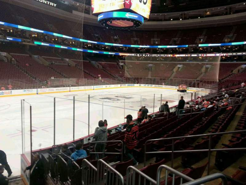 Seating view for Wells Fargo Center Section 122 Row 12 Seat 8