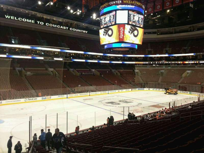 Seating view for Wells Fargo Center Section 122 Row 21 Seat 15