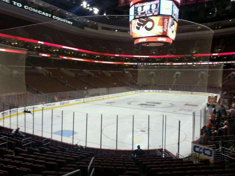 Seating view for Wells Fargo Center Section 121 Row 16 Seat 1