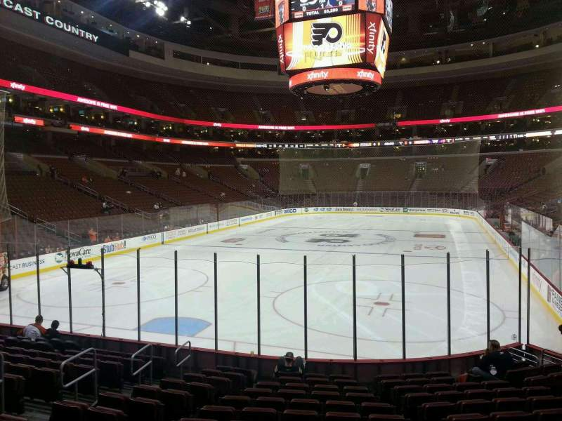 Seating view for Wells Fargo Center Section 120 Row 13 Seat 8
