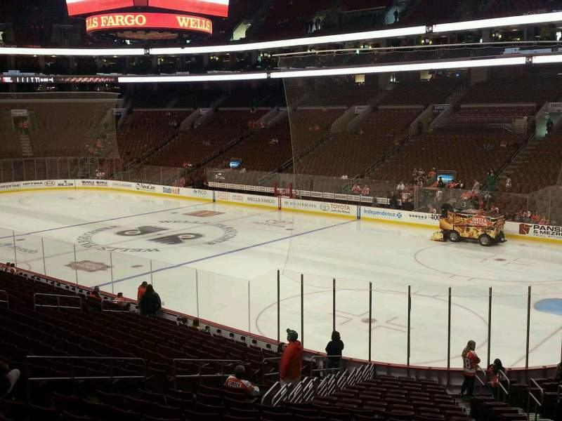 Seating view for Wells Fargo Center Section 116 Row 23 Seat 11