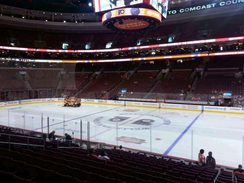 Seating view for Wells Fargo Center Section 114 Row 15 Seat 15