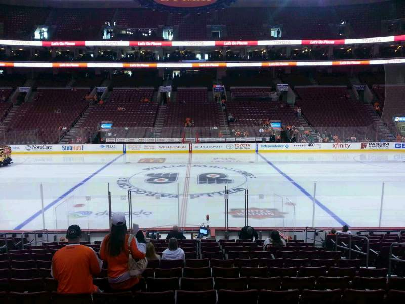 Seating view for Wells Fargo Center Section 113 Row 15 Seat 11