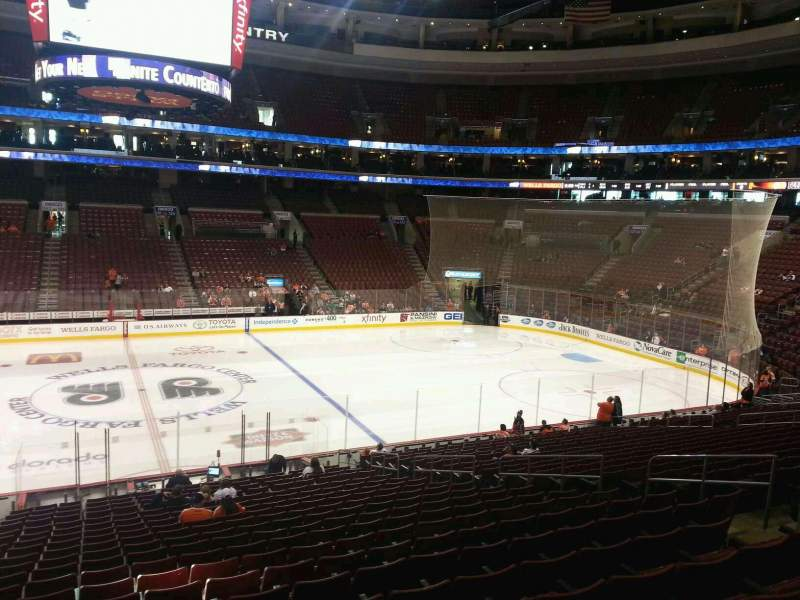 Seating view for Wells Fargo Center Section 113 Row 23 Seat 1
