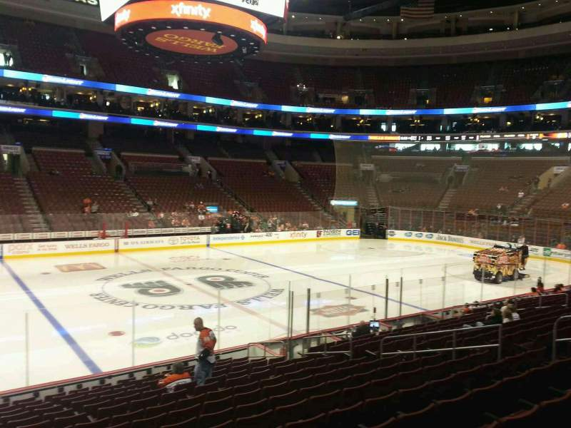 Seating view for Wells Fargo Center Section 112 Row 16 Seat 6