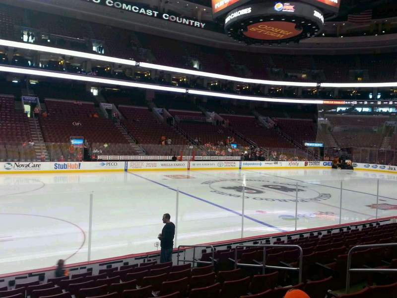 Seating view for Wells Fargo Center Section 111 Row 11 Seat 11