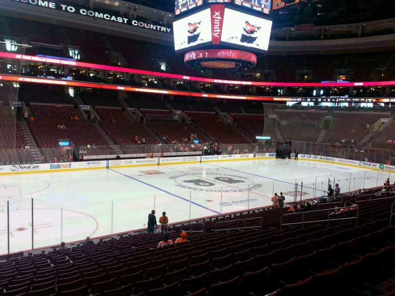 Seating view for Wells Fargo Center Section 111 Row 20 Seat 2