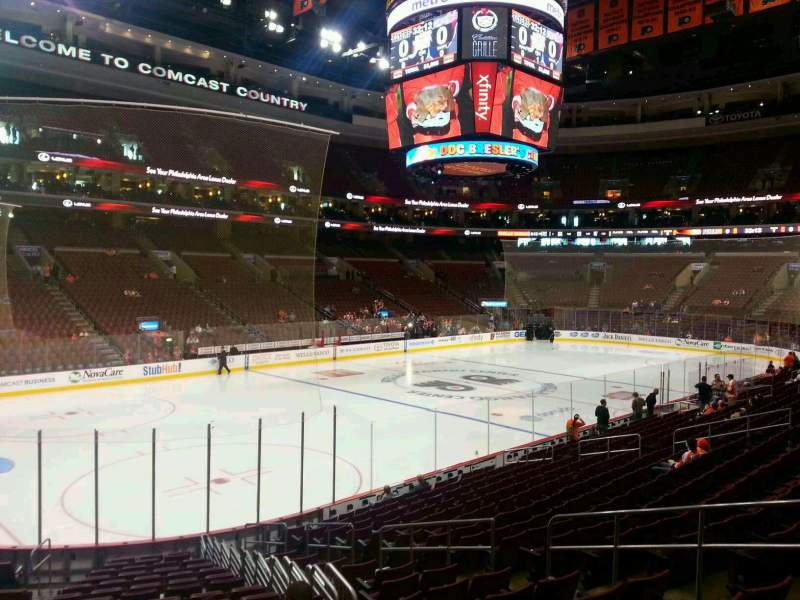 Seating view for Wells Fargo Center Section 110 Row 18 Seat 6