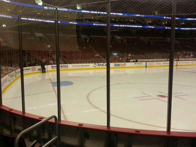 Seating view for Wells Fargo Center Section 110 Row 4 Seat 3