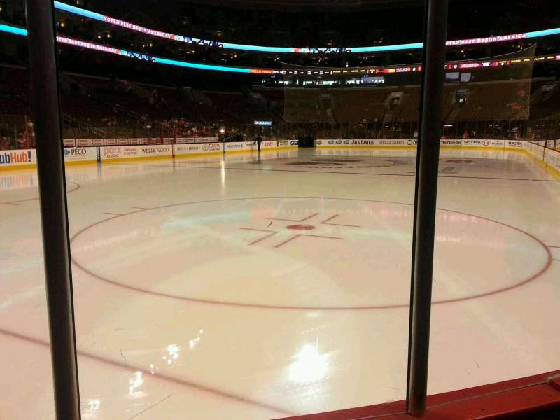 Seating view for Wells Fargo Center Section 109 Row 2 Seat 15