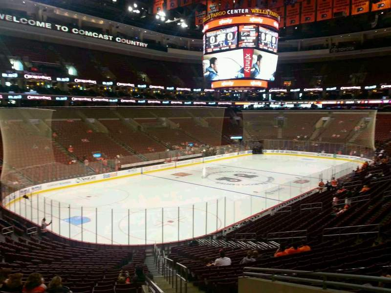 Seating view for Wells Fargo Center Section 109 Row 26 Seat 26