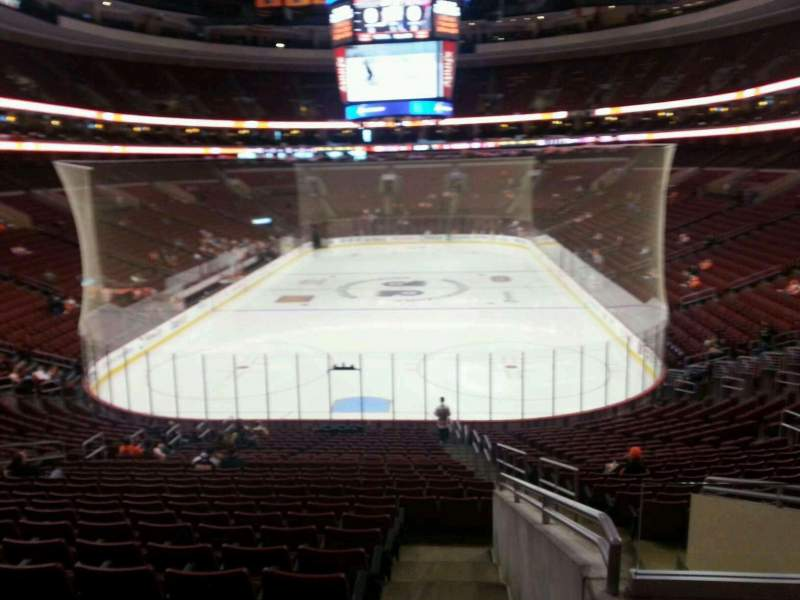 Seating view for Wells Fargo Center Section 108 Row 25 Seat 8