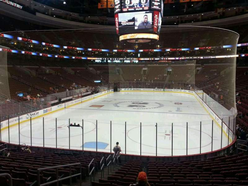 Seating view for Wells Fargo Center Section 106 Row 26 Seat 18