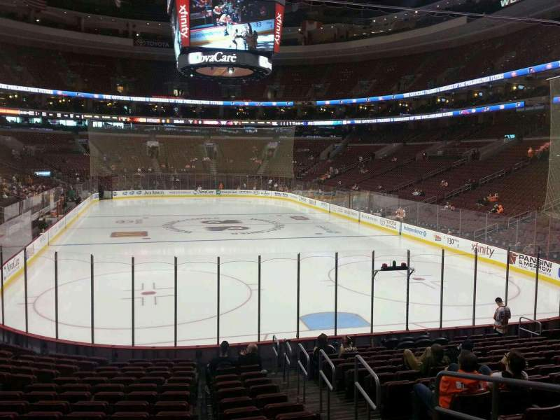 Seating view for Wells Fargo Center Section 108 Row 19 Seat 1