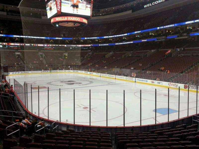 Seating view for Wells Fargo Center Section 106 Row 16 Seat 14