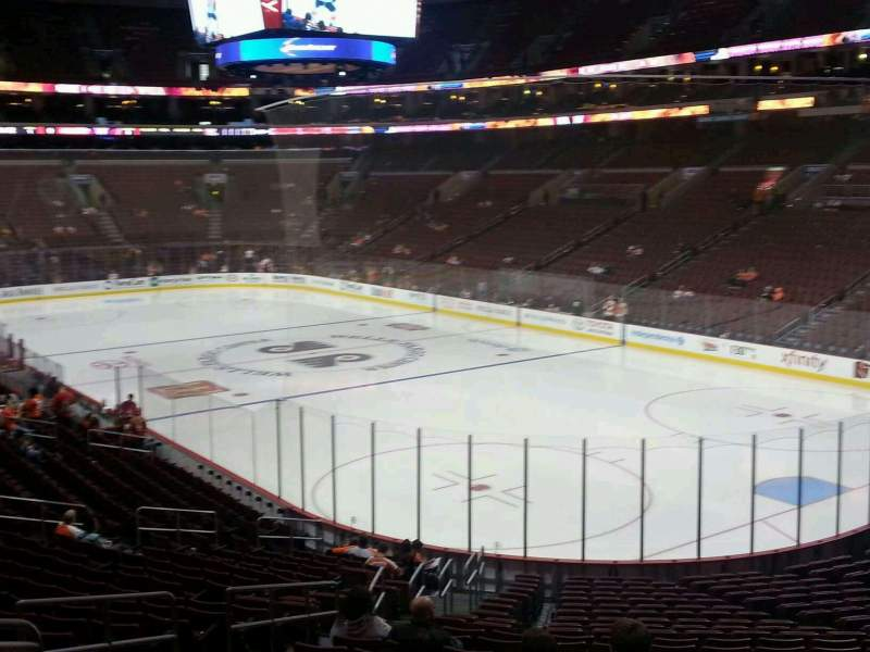 Seating view for Wells Fargo Center Section 105 Row 14 Seat 12