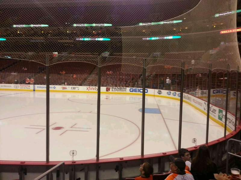Seating view for Wells Fargo Center Section 104 Row 6 Seat 1
