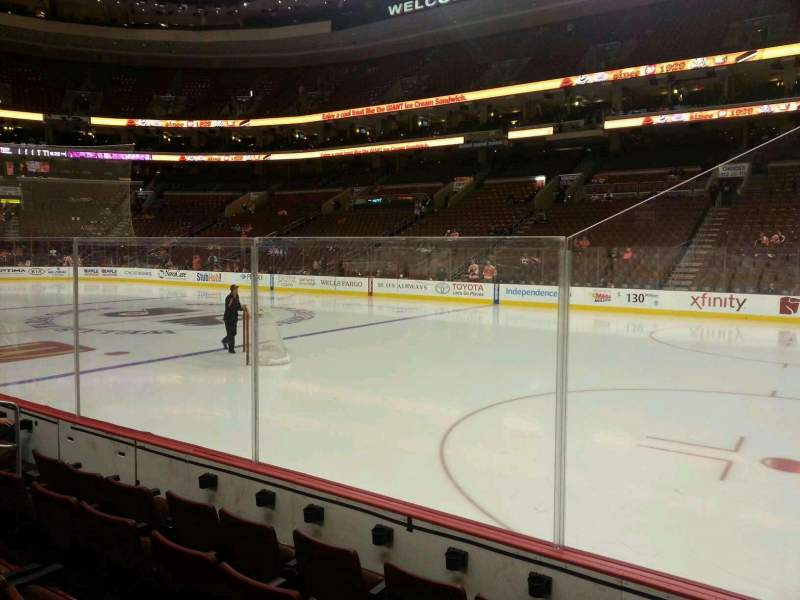 Seating view for Wells Fargo Center Section 103 Row 5 Seat 10