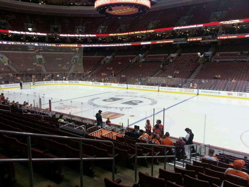 Seating view for Wells Fargo Center Section 103 Row 15 Seat 4