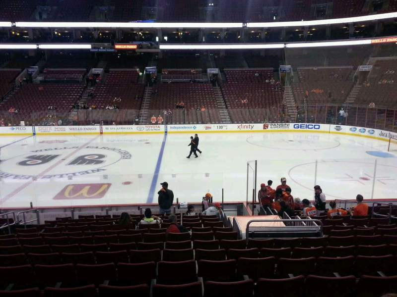 Seating view for Wells Fargo Center Section 102 Row 16 Seat 9