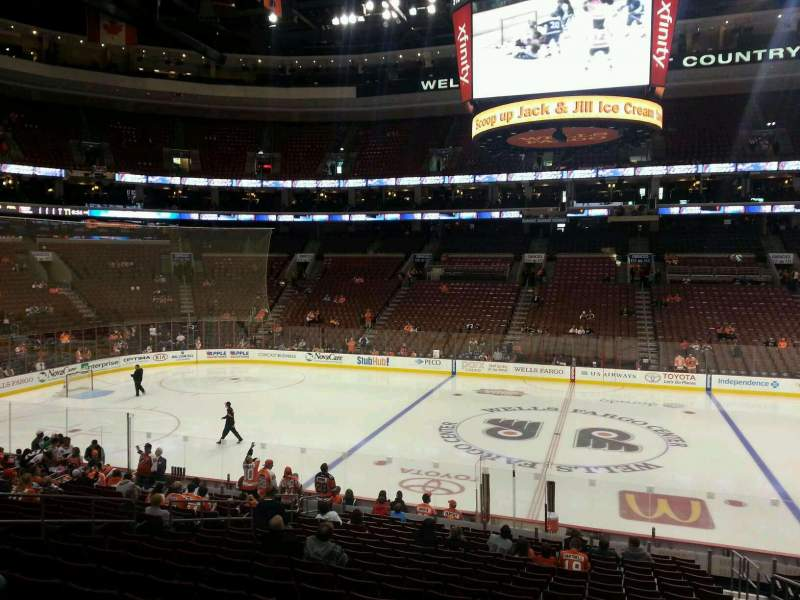Seating view for Wells Fargo Center Section 101 Row 20 Seat 10