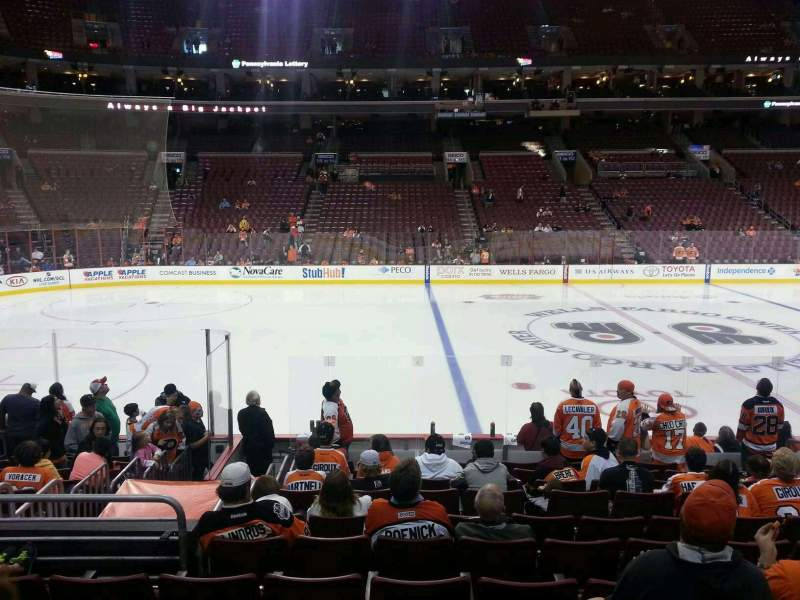 Seating view for Wells Fargo Center Section 124 Row 12 Seat 12