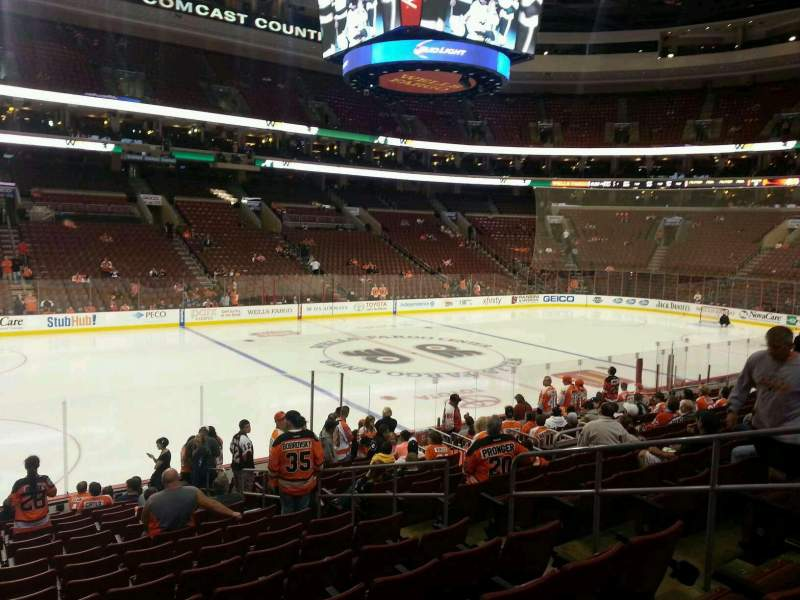 Seating view for Wells Fargo Center Section 123 Row 16 Seat 14