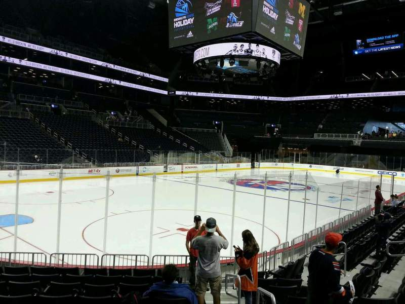 Seating view for Barclays Center Section 13 Row 10 Seat 1