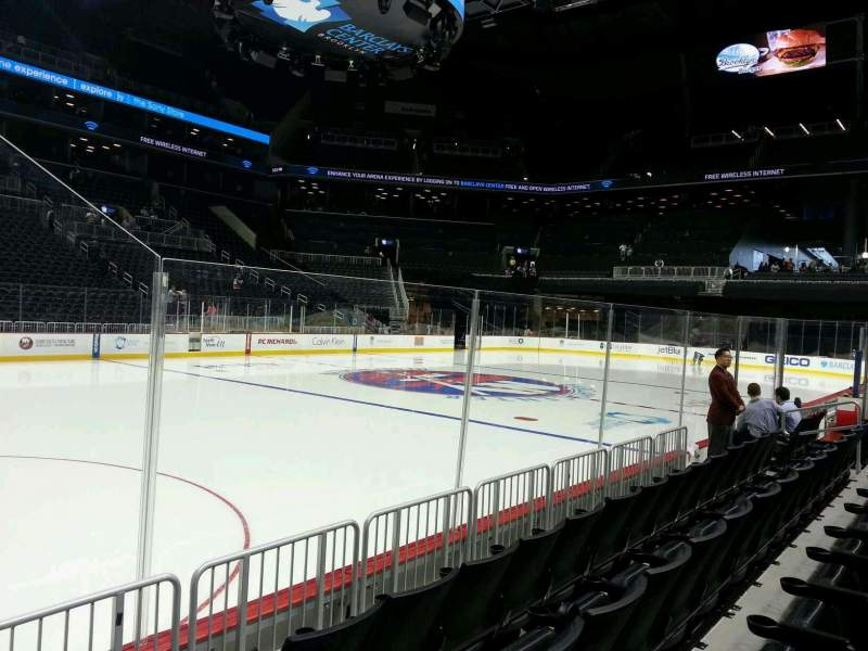 Seating view for Barclays Center Section 9 Row 4 Seat 18