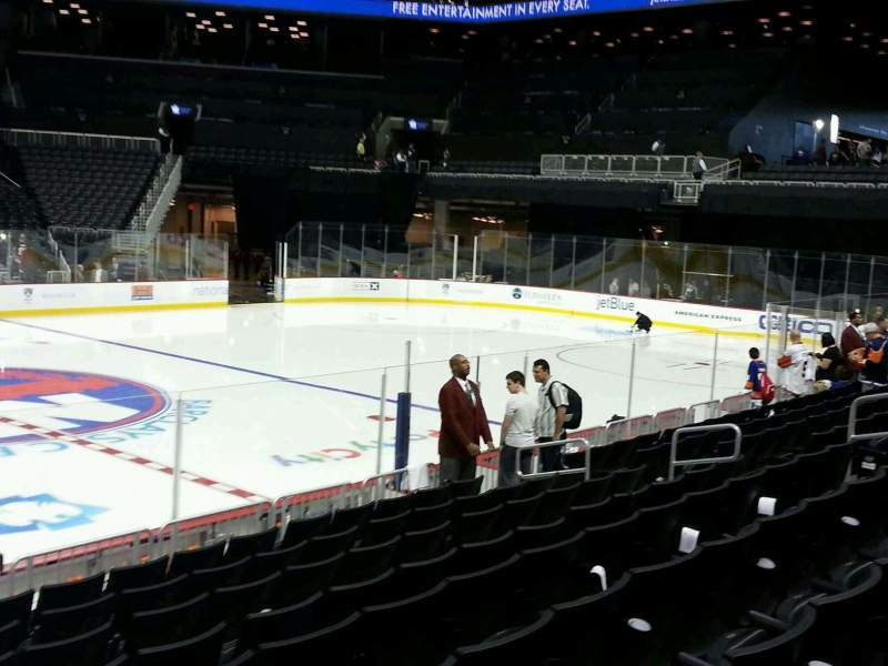 Seating view for Barclays Center Section 8 Row 11 Seat 16