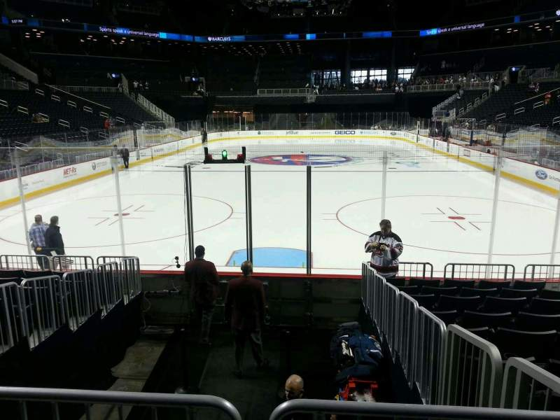 Seating view for Barclays Center Section 16 Row 10 Seat 7