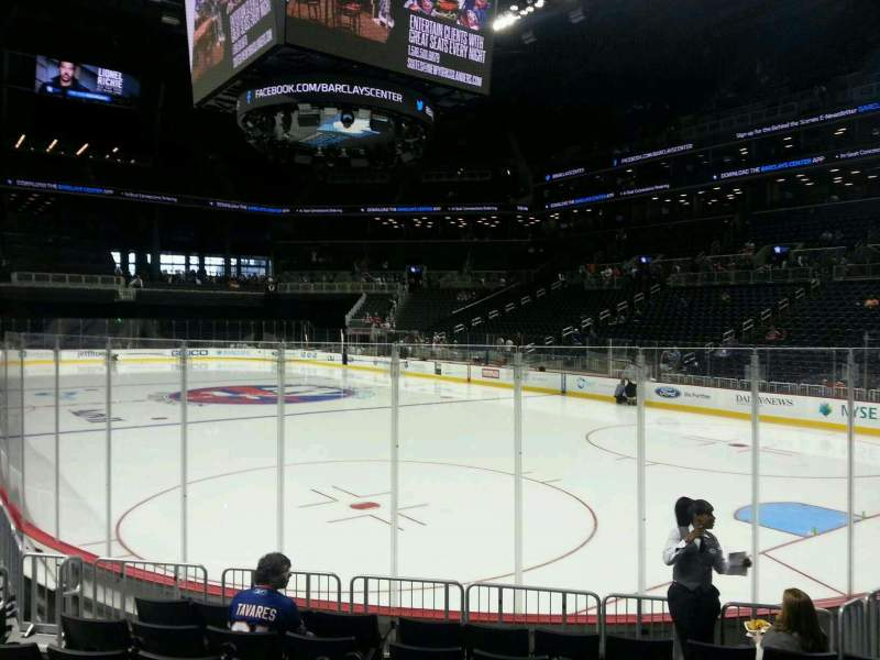 Seating view for Barclays Center Section 19 Row 8 Seat 9