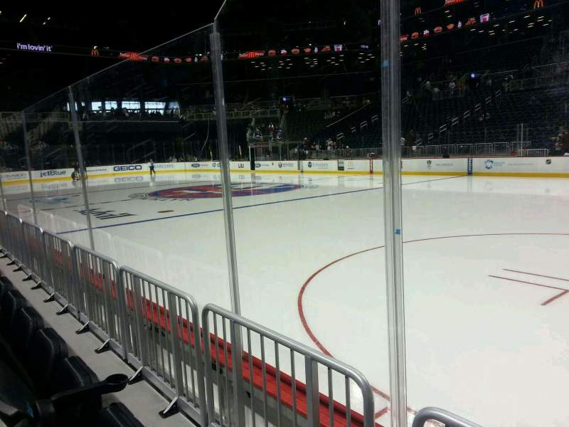 Seating view for Barclays Center Section 23 Row 2 Seat 1