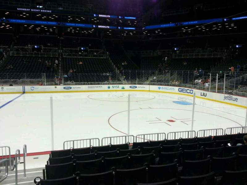 Seating view for Barclays Center Section 23 Row 5 Seat 18