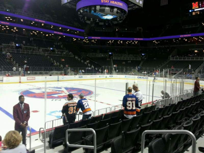 Seating view for Barclays Center Section 26 Row 7 Seat 3