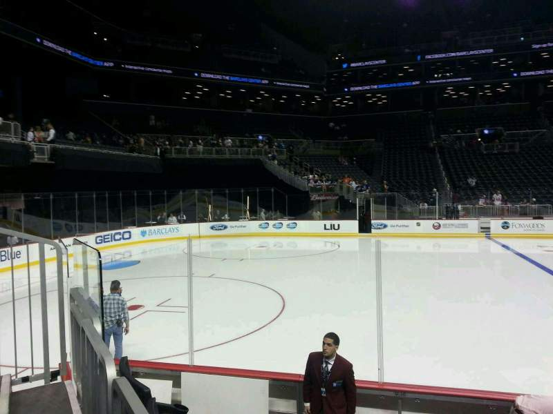 Seating view for Barclays Center Section 28 Row 7 Seat 1