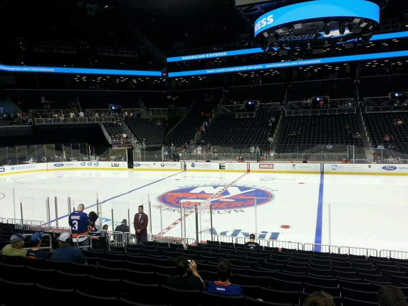 Seating view for Barclays Center Section 24 Row 15 Seat 8