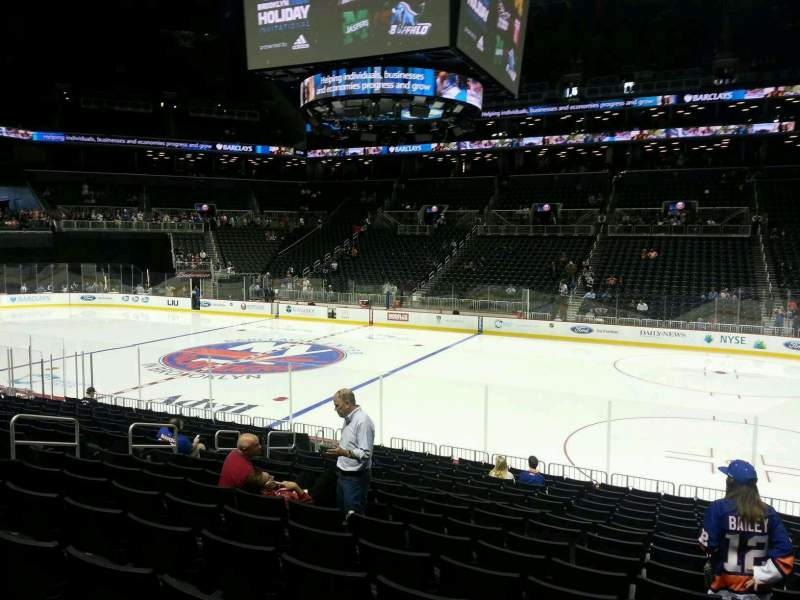 Seating view for Barclays Center Section 23 Row 16 Seat 4
