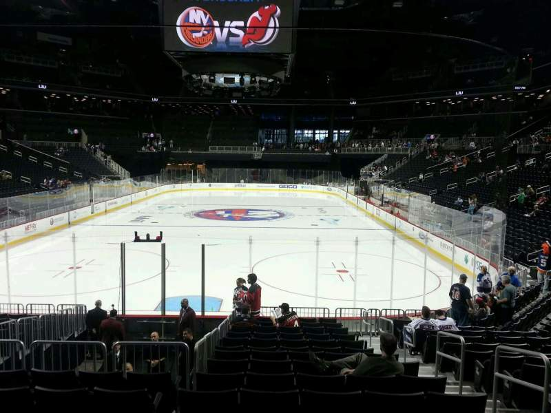 Seating view for Barclays Center Section 16 Row 15 Seat 4