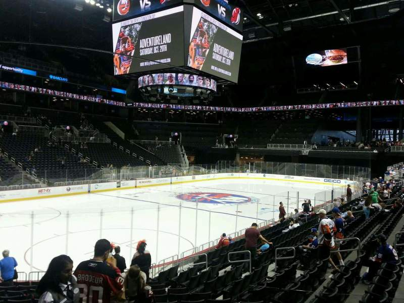 Seating view for Barclays Center Section 12 Row 15 Seat 2