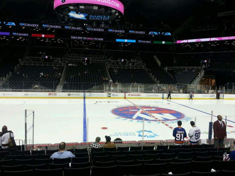 Seating view for Barclays Center Section 8 Row 13 Seat 11