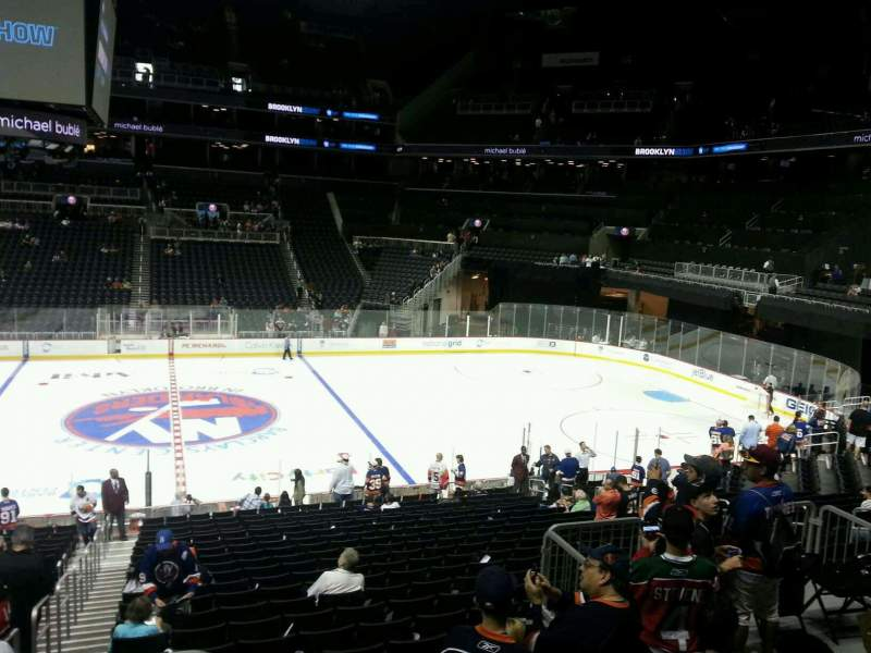 Barclays Center, section: 107, row: 5, seat: 2