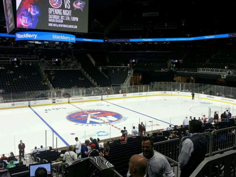 Barclays Center, section: 109, row: 1, seat: 4