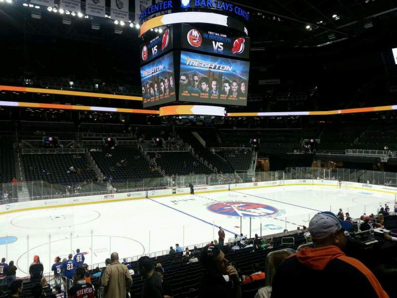 Seating view for Barclays Center Section 110 Row 3 Seat 4